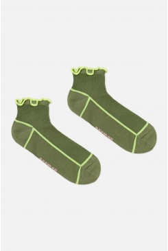 Lettuce Ribbed Ankle Sock
