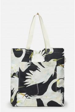 Dancing Egrets Canvas Tote