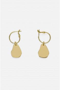 Pear Hoop Earrings