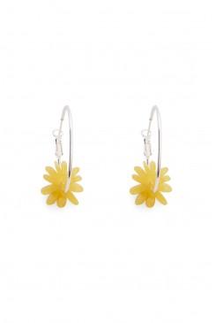 Sun Flower Hoop Earring
