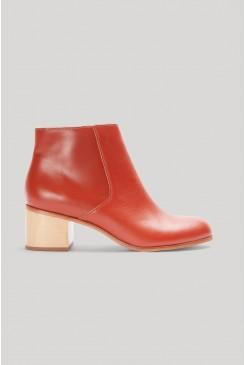 Mid Heel Ankle Boot