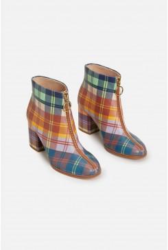 Tartan Zip Front Boot