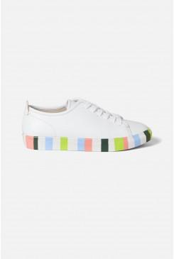 Stripey Sole Vegan Sneaker