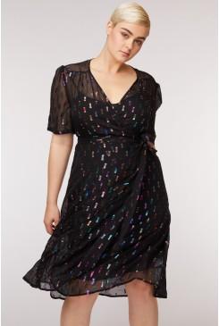 Happy Go Lucky Silk Dress