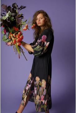 Iris Black Long Dress