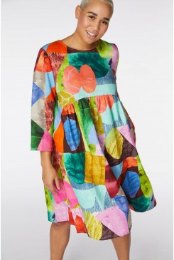 Colour Drop Linen Dress
