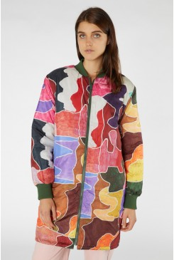 Jigsaw Quilted Coat