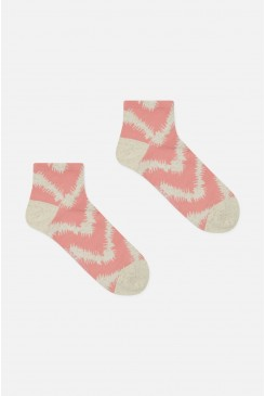 Fuzzy Tiger Ankle Sock