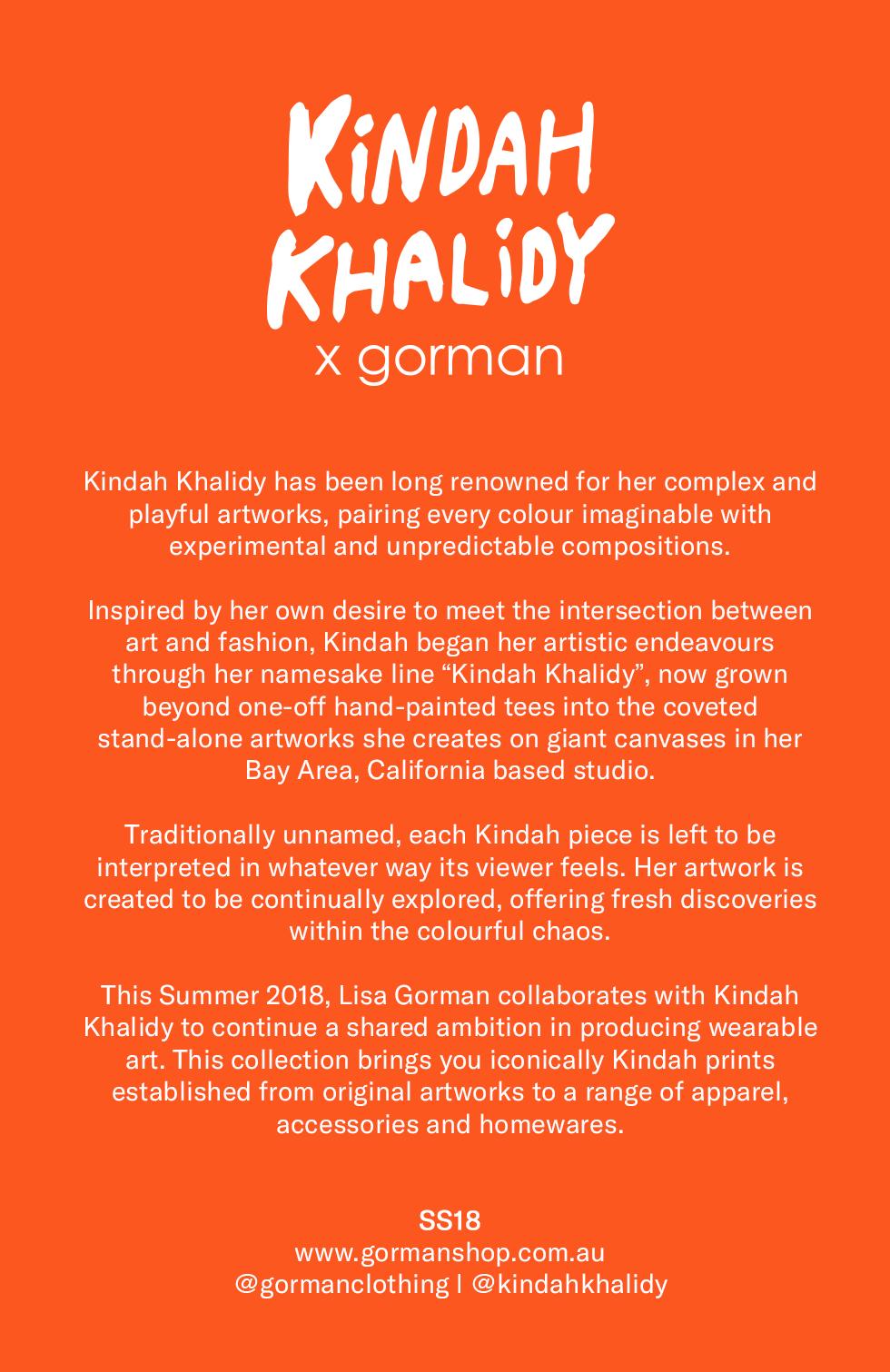 Kindah Khalidy + Gorman