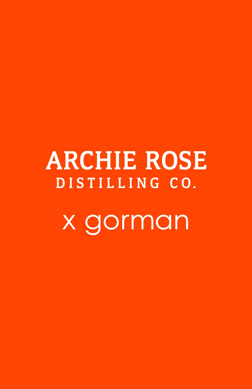 Archie Rose x gorman