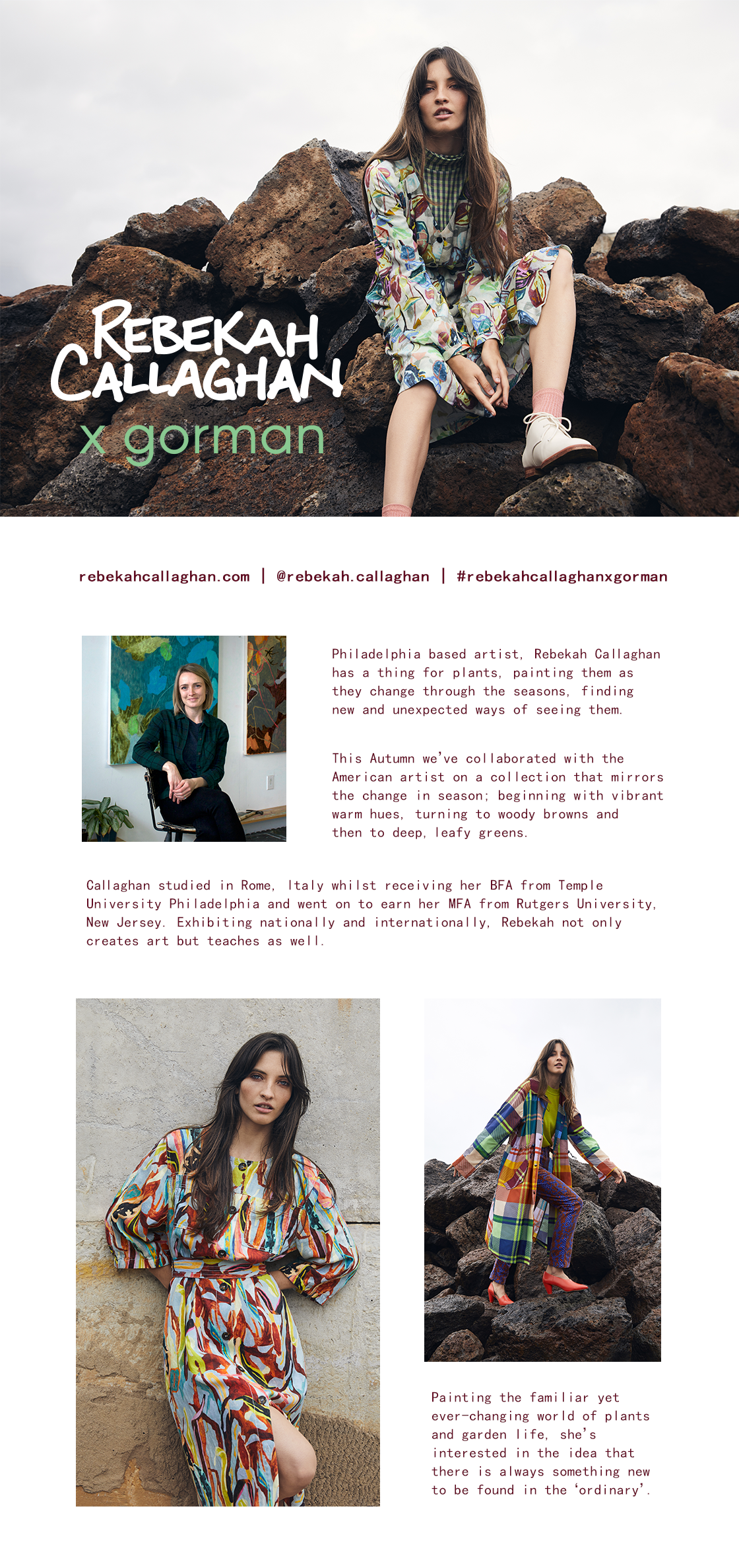 Rebekah Callaghan x Gorman